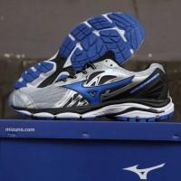 Sepatu Volly Mizuno Wave Inspire Grey Silver Blue