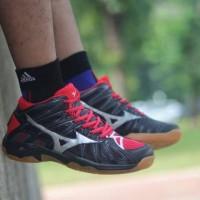 Sepatu Volly Mizuno Wave Tornado X2 Black Red