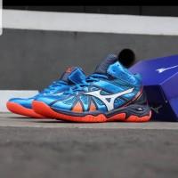 Sepatu Volly Mizuno Tornado 9 Blue Orange