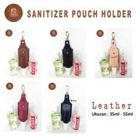 Aksesoris Tas Hand Sanitizer   S001 Leather 50ml   Sanitizer Holder  