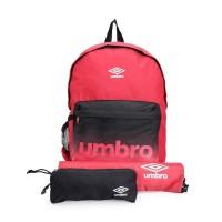 Tas Umbro BTS Backpack / Gymsack / Pencil Case Set - Red
