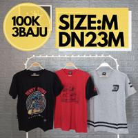 3-IN-1 Kaos Distro Pria Keren Size M - Baju Trend Streetwear Laki