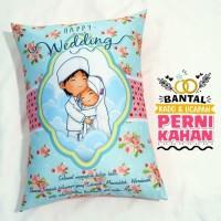Bantal Kado & Hadiah Pernikahan Muslim 30x40cm