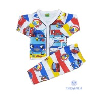 Baju Tidur Anak/Piyama Anak Tayo Kancing 1-8 Tahun - 1