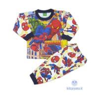 Baju Tidur Anak/Piyama Anak Spiderman 1-8 Tahun - 1