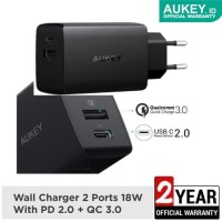 Charger Aukey PA Y17 Quick Charger PD 2.0 & QC 3.0 Fast Charging
