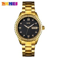 Jam Tangan Pria Analog SKMEI 9221 GOLD BLACK WaterResist 30m