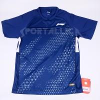 T-Shirt/Kaos/Baju Badminton LiNing / Li-Ning Men's RN ATSP609-2 Navy