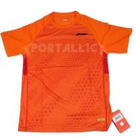 T-Shirt/Kaos/Baju Badminton LiNing / Li-Ning Men's RN ATSP609-3 Orange