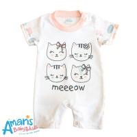 Amaris Romper Pendek Baby Motif Meow