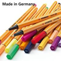 Point 88 STABILO Fine 0.4 mm Marker Pen Liner Pulpen Highlighter Warna