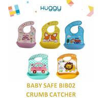Baby Safe BIB02 Foldable Bib With Crumb Catcher Slabber Celemek Bayi