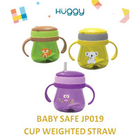 Baby Safe JP019 Botol Minum Pemberat Training Cup Weighted Straw