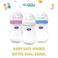 Baby Safe WN002 Wide Neck Bottle 250ml Botol Susu Anak Bayi Murah