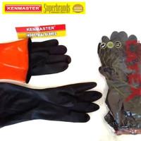 Kenmaster Sarung tangan Karet Latex ukuran XL