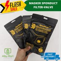 Masker Filter 3D SCUBA MASK BREATHING VALVE PM 2.5 KARBON - GOWERS