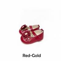 Sepatu Bayi Flat Prewalker Tamagoo - Melia Red Series Murah