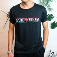 baju kaos salur pria stripe belang size M,L dan XL 3 motif warna murah