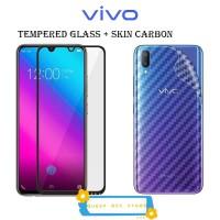 Vivo V11 pro Tempered Glass Skin Carbon Anti Gores Belakang Back 360