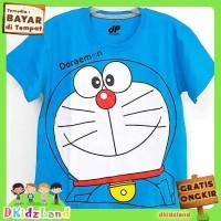 Baju/Kaos Anak Motif Doraemon 1-10 th - Biru Muda, 3-4 tahun