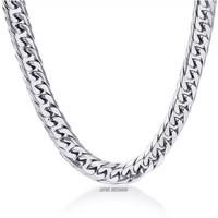 KALUNG PRIA TITANIUM GOLD MODEL RANTAI DOUBLE - Silver
