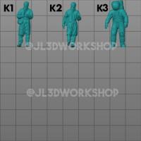 JL3D Seri K - Figure / Figur Skala 1/64 Kostum Hazmat Corona Astronot