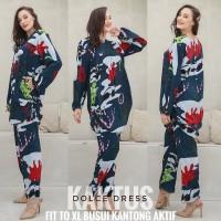 Setelan Arab Kaktus jumbo By Dolce Dress Original / Baju Wanita - Hitam