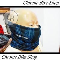 Buff Masker Bandana Sepeda Shimano Bahan Dry Fit Adem Anti UV Premium