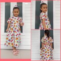 Baju Katun Dress Elmo Anak Perempuan umur 1 2 3 4 5 Tahun