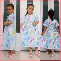 Baju Katun Dress Kuda Pony Biru Anak Perempuan umur 1 2 3 4 5 Tahun