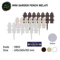 Dekorasi taman mini garden fence pagar taman mini 5802 Lucky star