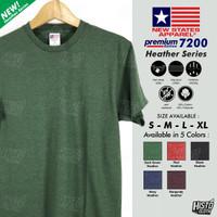 Kaos Polos NSA Premium Cotton Heather/ Misty Series New States Apparel
