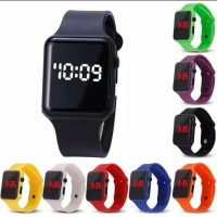 Jam Tangan LED Digital Fashion Watch Rubber Pria Wanita / Anak Remaja