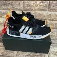 Sepatu Adidas NMD R1 Off White Nast Black White Orange