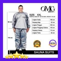 setelan baju celana sauna suit pembakar lemak pelangsing XXXL jumbo