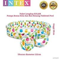 Kolam Renang Anak Intex 59469 BONUS Bola dan Ban Renang Fishbowl pool