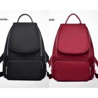 AA855 Tas Ransel Backpack Wanita Import Murah Bahan Kain Parasut