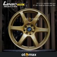 Velg Mobil Lenso Project D Race-6 Ring 17 Gold/Lip Polish/Laser Text