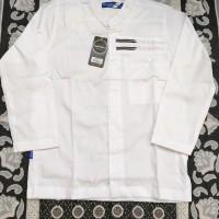Baju Koko Remaja / Anak Tanggung Syahdika Putih Lengan Panjang