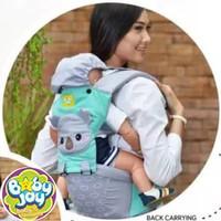 Gendongan Bayi Depan Hipseat Kokoa Series Merk Baby Joy BJG-3029 - Hijau Pastel