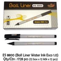 Pulpen / Pena / Pen ESCO Ballpoint Ball Liner 1 mm ES 8800 - 1 pcs