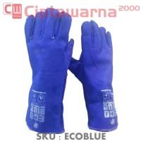 Sarung Tangan las Kulit 14 Inch ECO BLUE GOSAVE / WELDING GLOVES
