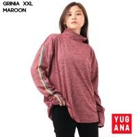 Baju Kaos Wanita Turtle Neck Lengan Panjang Cewek Size L XXL GRINIA