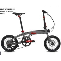 "Sepeda Lipat PACIFIC NORIS 2.1 16"" (Folding Bike) - GREY"
