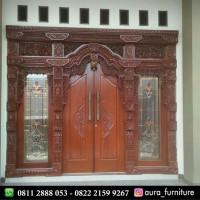 pintu rumah gebyok jati mewah,pintu kusen gebyok kayu jati jepara