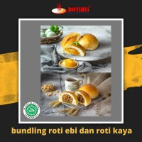 Paket bundling 3 roti ebi khas Pontianak dan 3 roti serikaya Rotihui