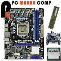 Paket Mainboard 1155 H61 ASROCK Dengan Processor i3 2120 RAM 2GB