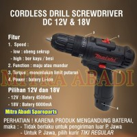 Mesin BOR TANGAN & OBENG Portable / Cordless Drill Screwdriver DC