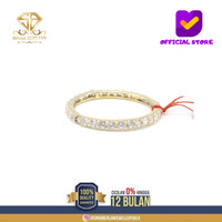 SBJ - cincin emas kuning wanita perhiasan emas asli 375 CMM110 R16