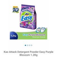 Kao attack easy deterjen powder purple 1.2kg